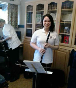 clarinetist warms up for Scandinavian Midsummer                 Festival