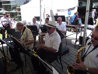 the band at West Vancouver Day concert